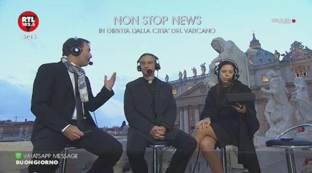 Rtl 102.5 in diretta da Piazza San Pietro