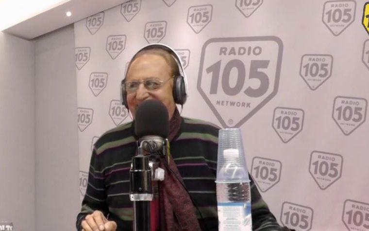 Frammenti di radio: Renzo Arbore ospite a Radio 105, il video