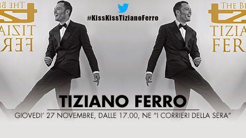 Tiziano Ferro in diretta a Radio Kiss Kiss