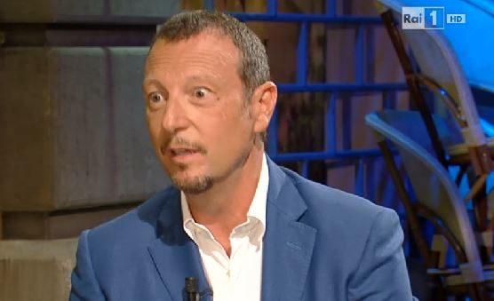 """Video: Amadeus ospite di Maurizio Costanzo a """"S'è fatta notte"""" del 20/09/2014"""