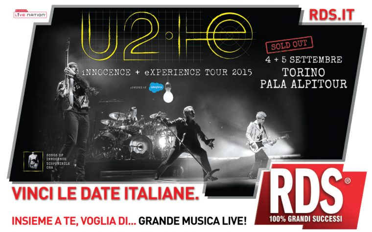 RDS media partner dei concerti sold out degli U2