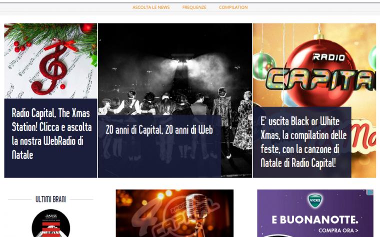 Nuovo sito per Radio Capital