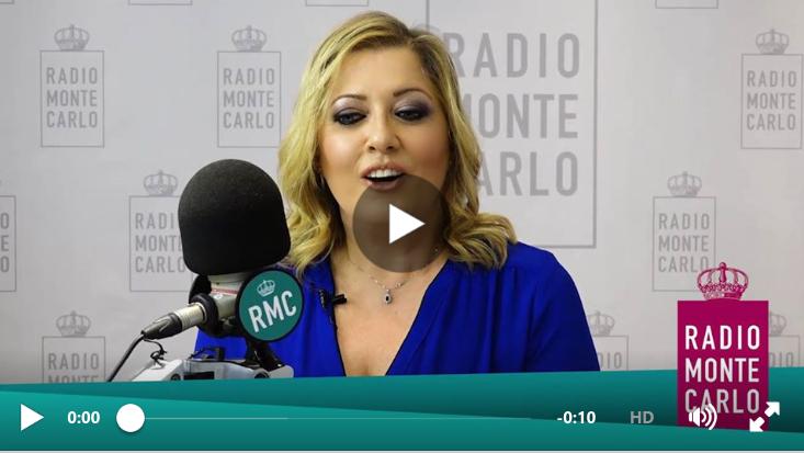 Rosaria Renna saluta il pubblico di Radio Monte Carlo