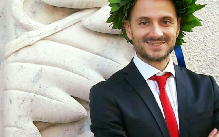 Simone Maggio di Radio Italia neo-laureato